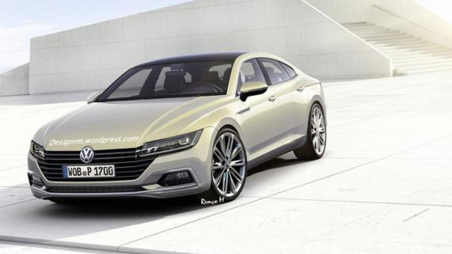 Next generation Volkswagen CC speculatively rendered