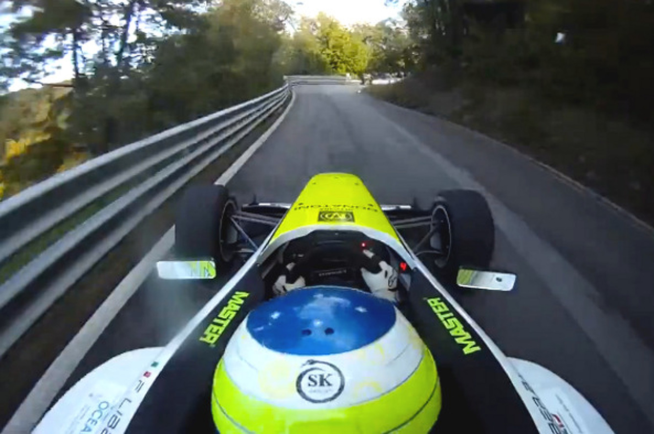 Watch A Racecar Blast Through an Italian Mountainside [video]