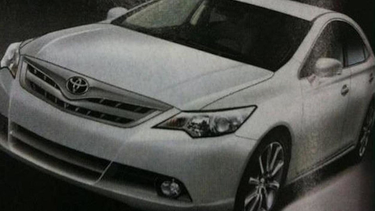 Leaked image showing the 2012 Toyota Camry