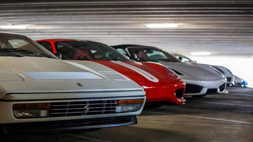 This Amazing Car Collection Is Stored In A Open Parking Garage