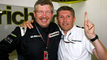 Ross Brawn (GBR) and Nick Fry (GBR), Brawn GP, Brazilian Grand Prix, Sao Paulo, Brazil, 18.10.2009