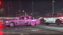 Demolition Derby Drag Racing