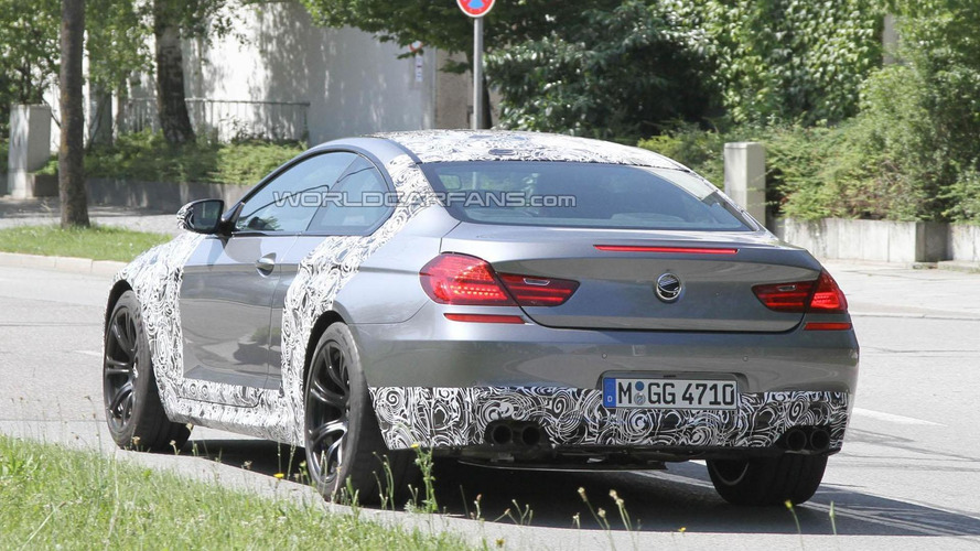 2012 BMW M6 spied with less camouflage
