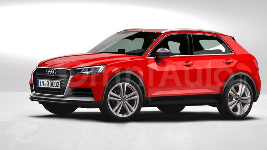 2017 Audi Q1 rendered based on latest spy photos