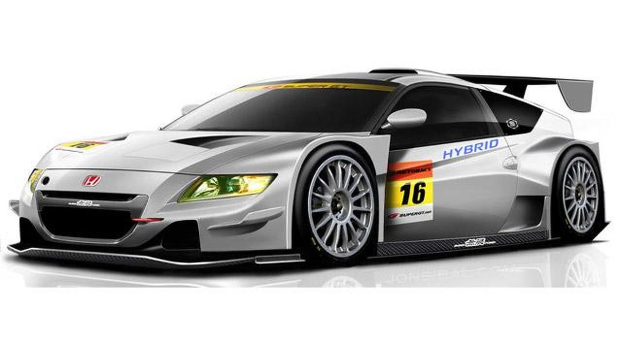 Honda Mugen CR-Z GT300 race car deisgn rendering, 640, 03.02.2012