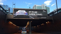 Jaguar F THE MEETING billboard