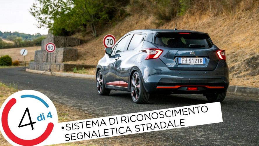 Nissan Micra, così riconosce i segnali stradali