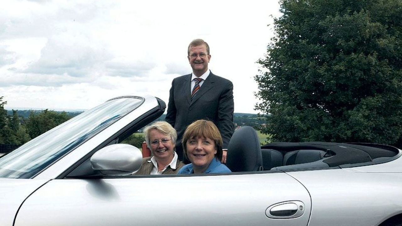 Angela Merkel - Annette Schavan und Dr. Wiedeking