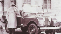Winston Churchill with Orginal Land Rover Series I