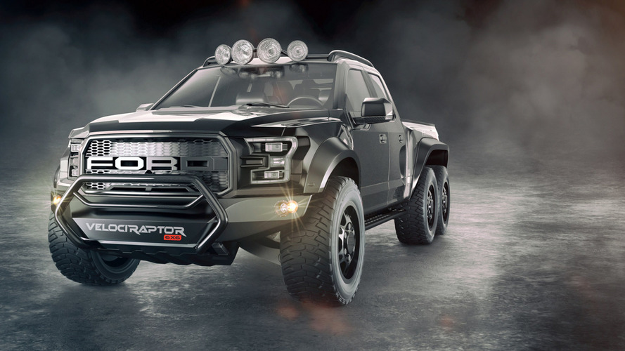 Hennessey VelociRaptor 6x6 is your six-wheeled, 600-hp F-150 Raptor