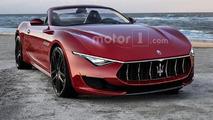Maserati Alfieri Cabrio render