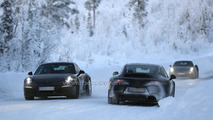 Porsche 911 facelift spy photo