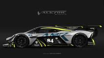 Decoraciones de competición Aston Martin Valkyrie 2018