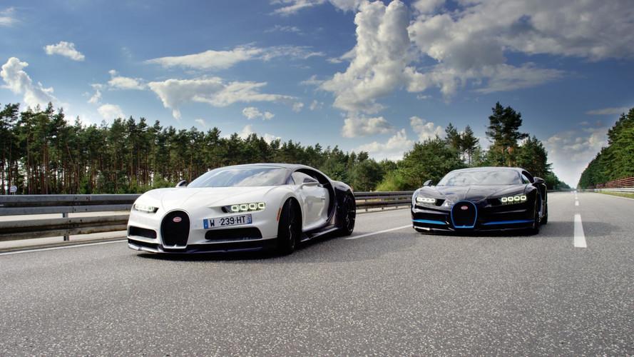 Exclusivo - Como filmar um Bugatti Chiron a 400 km/h? Com outro Chiron!