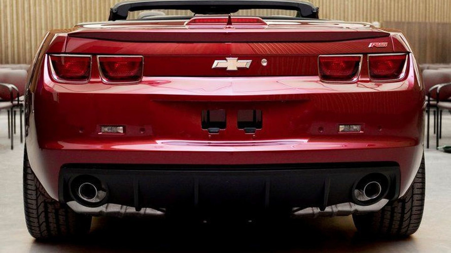 2012 Chevrolet Camaro Convertible teased on Facebook