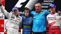 2005: 1. Fernando Alonso, 2. Kimi Raikkonen, 3. Ralf Schumacher