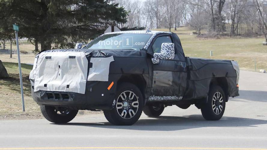 GMC Sierra 2500 HD Single Cab Spied Getting Ready For Work