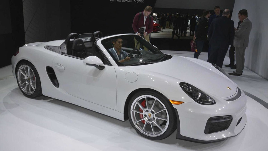 Porsche Boxster Spyder lands in New York with 375 HP