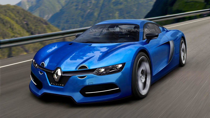 2016 Renault Alpine production version rendered