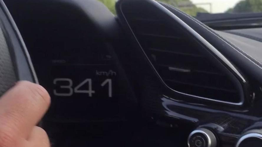 On-board video shows Ferrari 488 GTB hitting 341 km/h on the autobahn