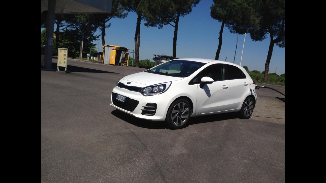 Kia Rio 1.1 CRDi, test di consumo reale Roma-Forlì