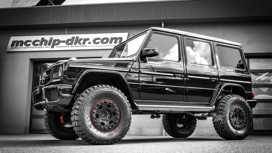 Mercedes-Benz G63 AMG raised by 15 cm and dialed to 810 PS by mcchip-dkr