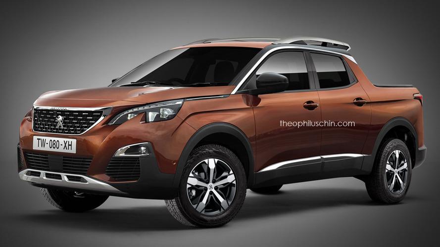 Future PSA pickup imagined with Peugeot badge