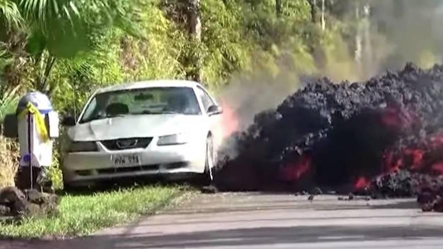 Owner Of Silver Mustang Eaten By Lava Speaks, Battery Was Dead