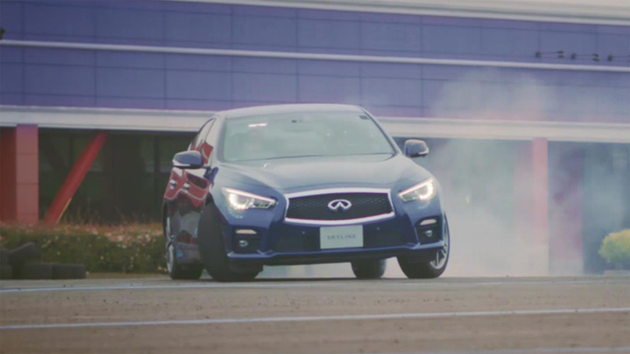 See How The Infiniti Q50 Handled A Test Track Painted By A Pig