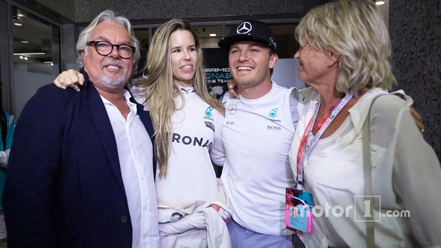 Keke Rosberg watched his son Nico win the F1 World Championship on TV