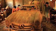 Full-size wood Mercedes-Benz 300SL replica