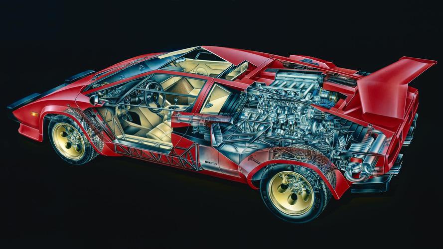 Lamborghini Countach Cutaway By David Kimble Motor1 Com