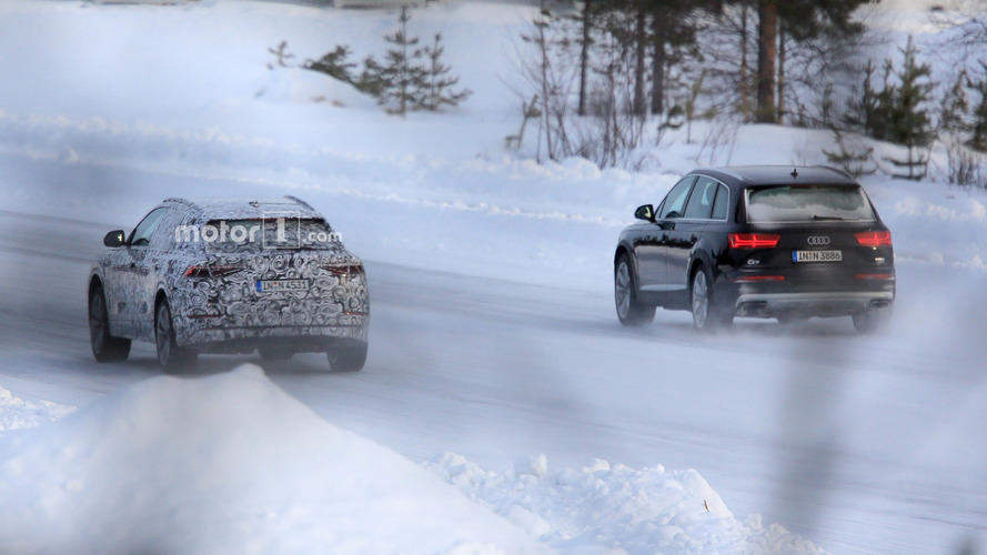 Audi Q8 caught ice skating with the Q7