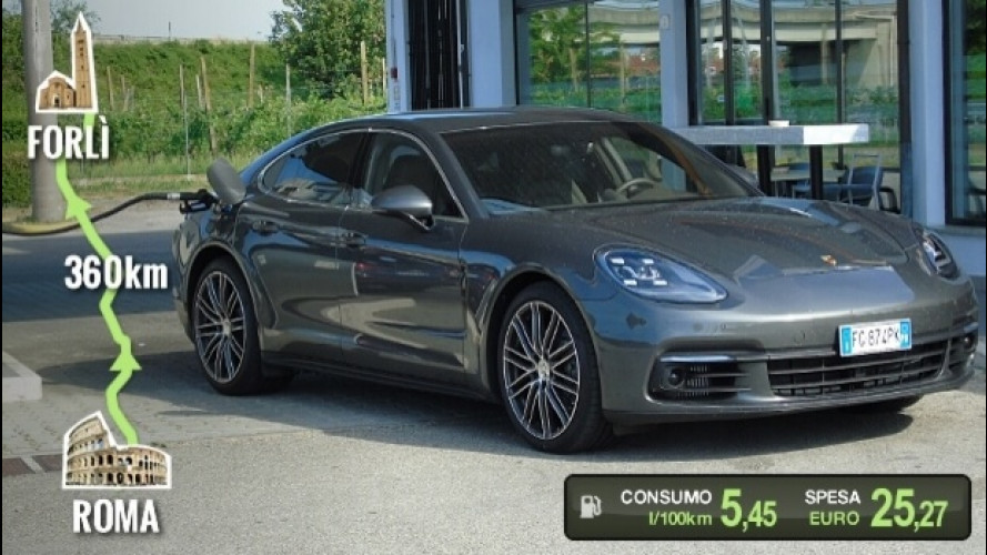 Porsche Panamera 4S Diesel, la prova dei consumi reali