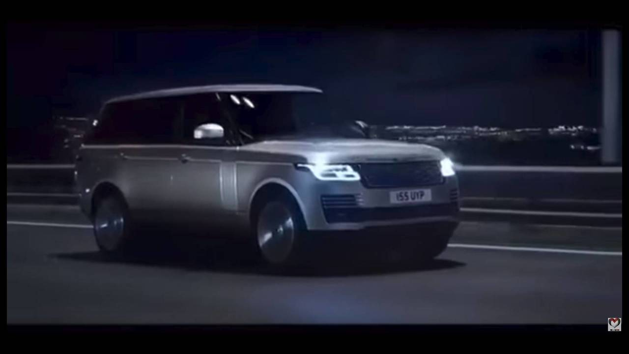 2018 land rover facelift. interesting rover 2018 range rover facelift screenshot from leaked promo video and land rover