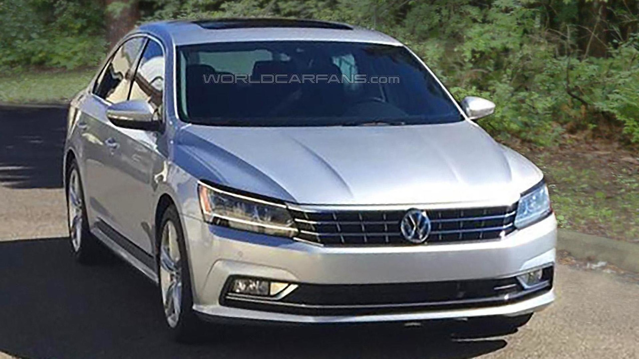 2016 Volkswagen Passat facelift (US-spec) spy photo