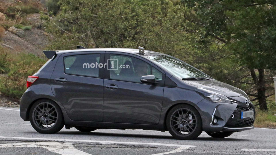 toyota yaris grmn spy photos suggest five door version is coming. Black Bedroom Furniture Sets. Home Design Ideas