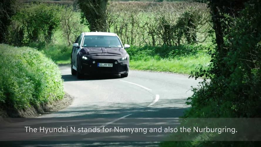 2018 Hyundai i30 N İngiltere'nin virajlı yollarında