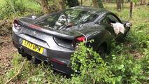 Ferrari 488 GTB neuve accidentée