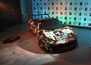 BoldFauxPas: A BATHING APE x Ferrari 458 Italia GT3 and Matte Pistachio at SEMA