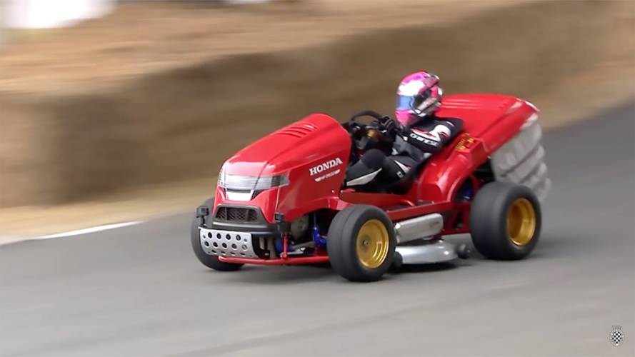 Watch The World's Fastest Lawnmower Tear Up Goodwood's Hill