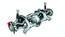 Porsche Panamera multi-arm rear axle with adaptive air suspension
