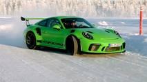Porsche 911 GT3 RS sobre hielo
