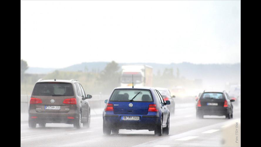 Sicher unterwegs bei starkem Regen