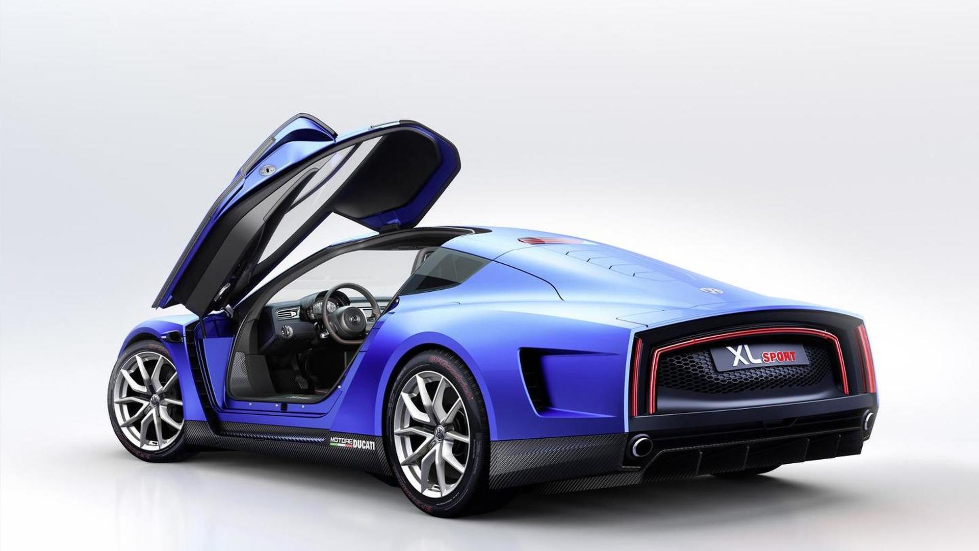 VW XL Sport: двери крылья чайки