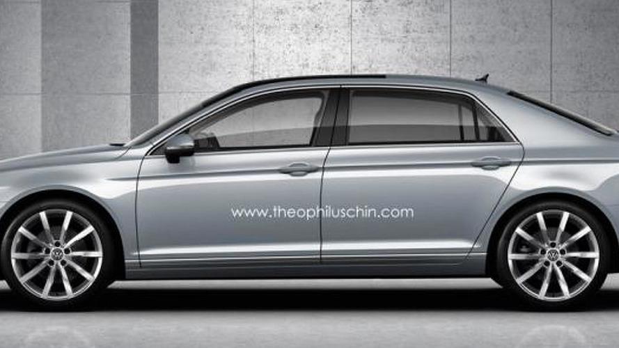 Next generation Volkswagen Phaeton digitally imagined