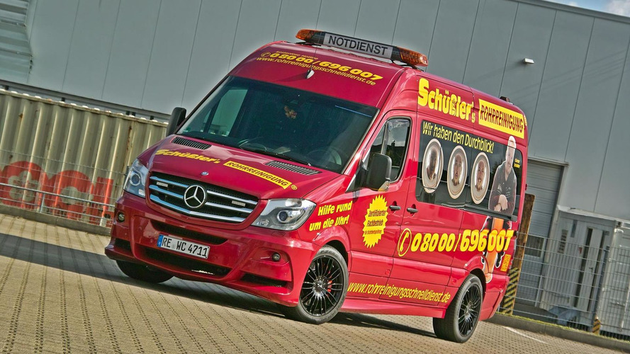 Hartman creates flashy Mercedes-Benz Sprinter used for plumbing services