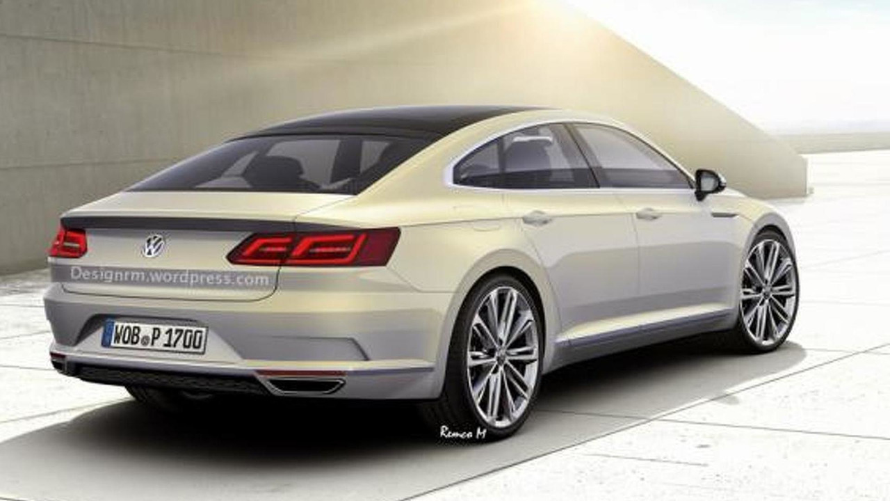 next generation volkswagen cc speculatively rendered. Black Bedroom Furniture Sets. Home Design Ideas