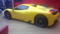 Ferrari 458 Speciale Spider spy photo