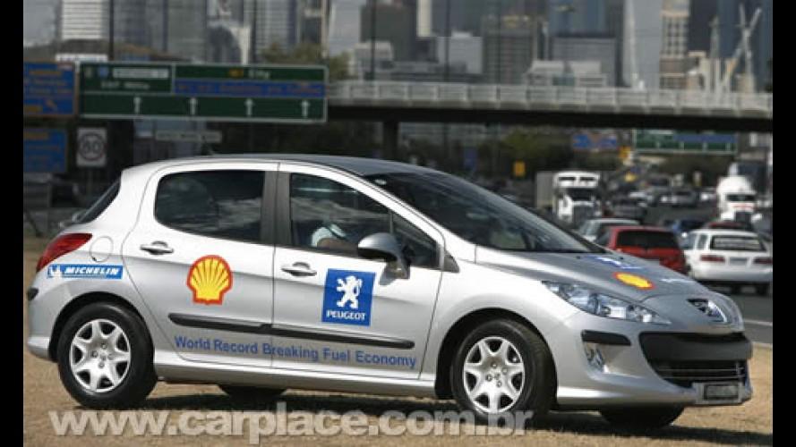 Peugeot 308 quebra recorde de carro 1.6 mais econômico do mundo